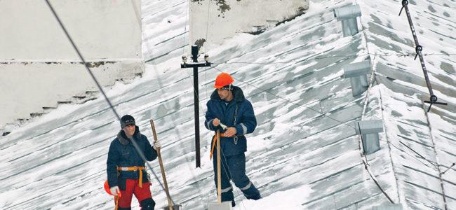 Réparation de toiture en hiver